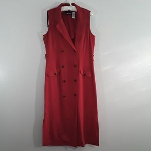 Sag Harbor Red Double Breasted Dress/Jumper SZ 16